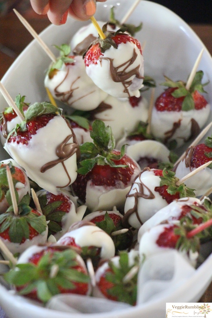 White chocolate covered Strawberries - Delectable!