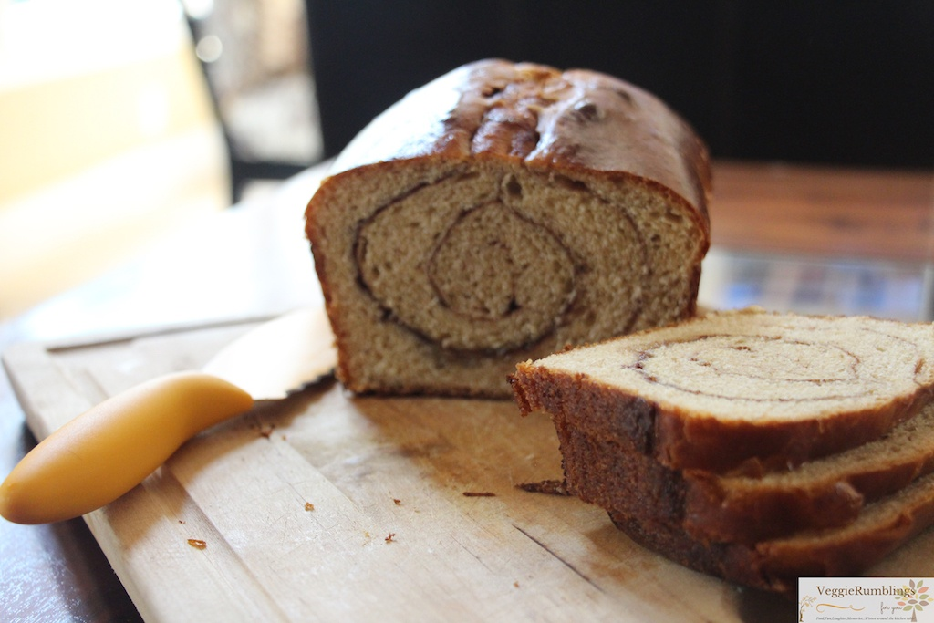 Cinnamon Swirl Wheat Bread - Indulgent Breakfast on a weekend!