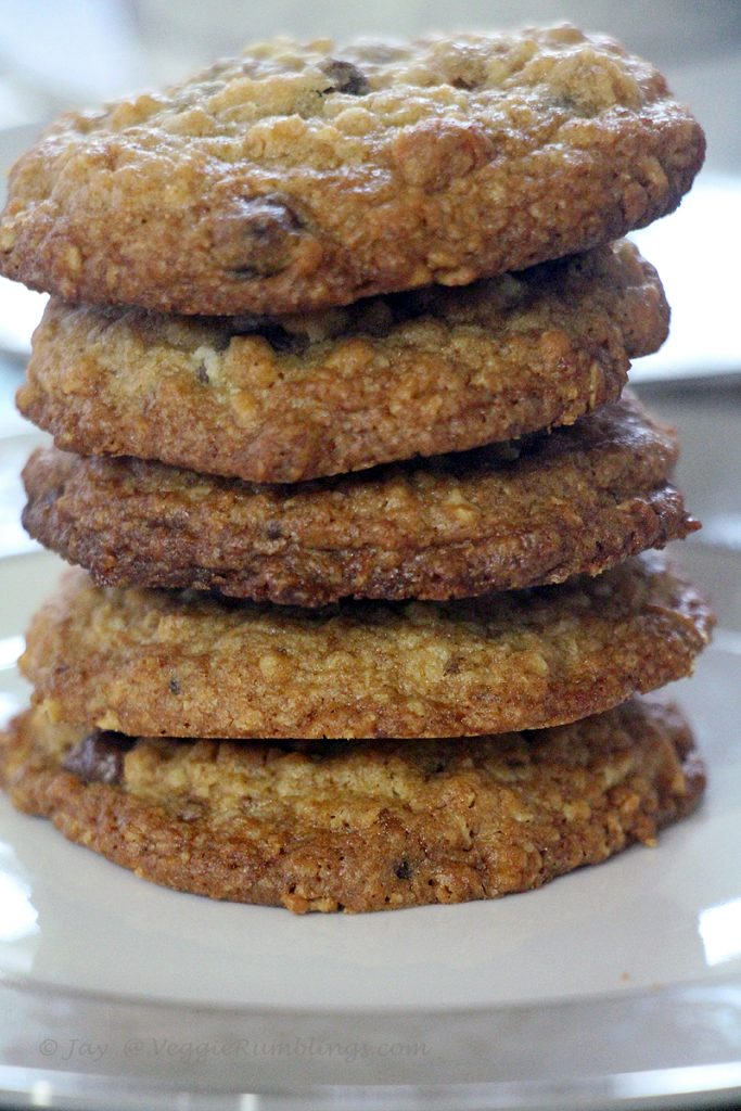 Chunky Milk Chocolate Oatmeal Cookies